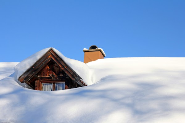 snow build up on roof