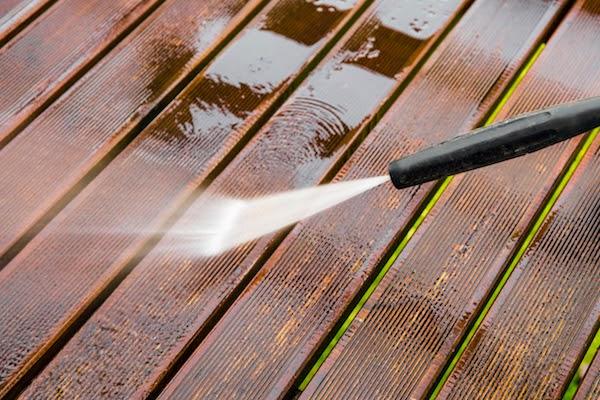 power washing porch