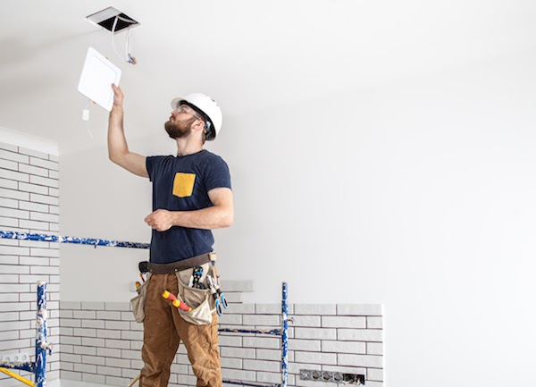 electrician working on home