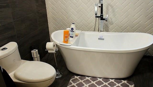 new bathroom project tub