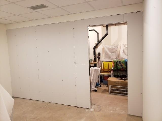 wall install basement
