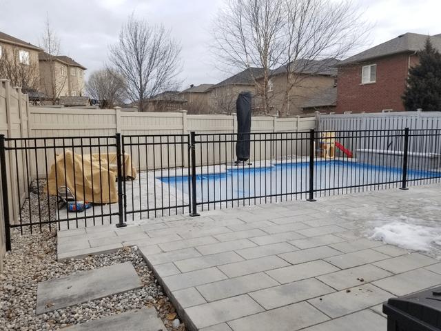 pool fence aluminum