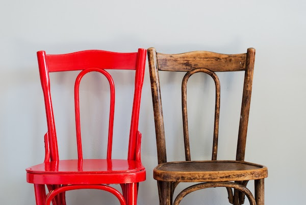 painted chairs before and after