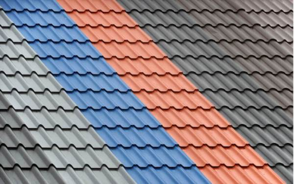 metal roof in a variety of colours