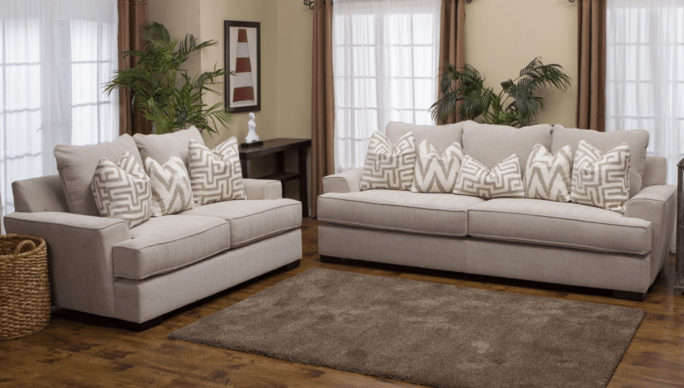 The Titan is a family favorite  With a light gray color and sharp  clean  lines  this sofa and loveseat set is both contemporary and functional. Our 6 Favorite Home Zone New Arrivals For Spring   Home Zone