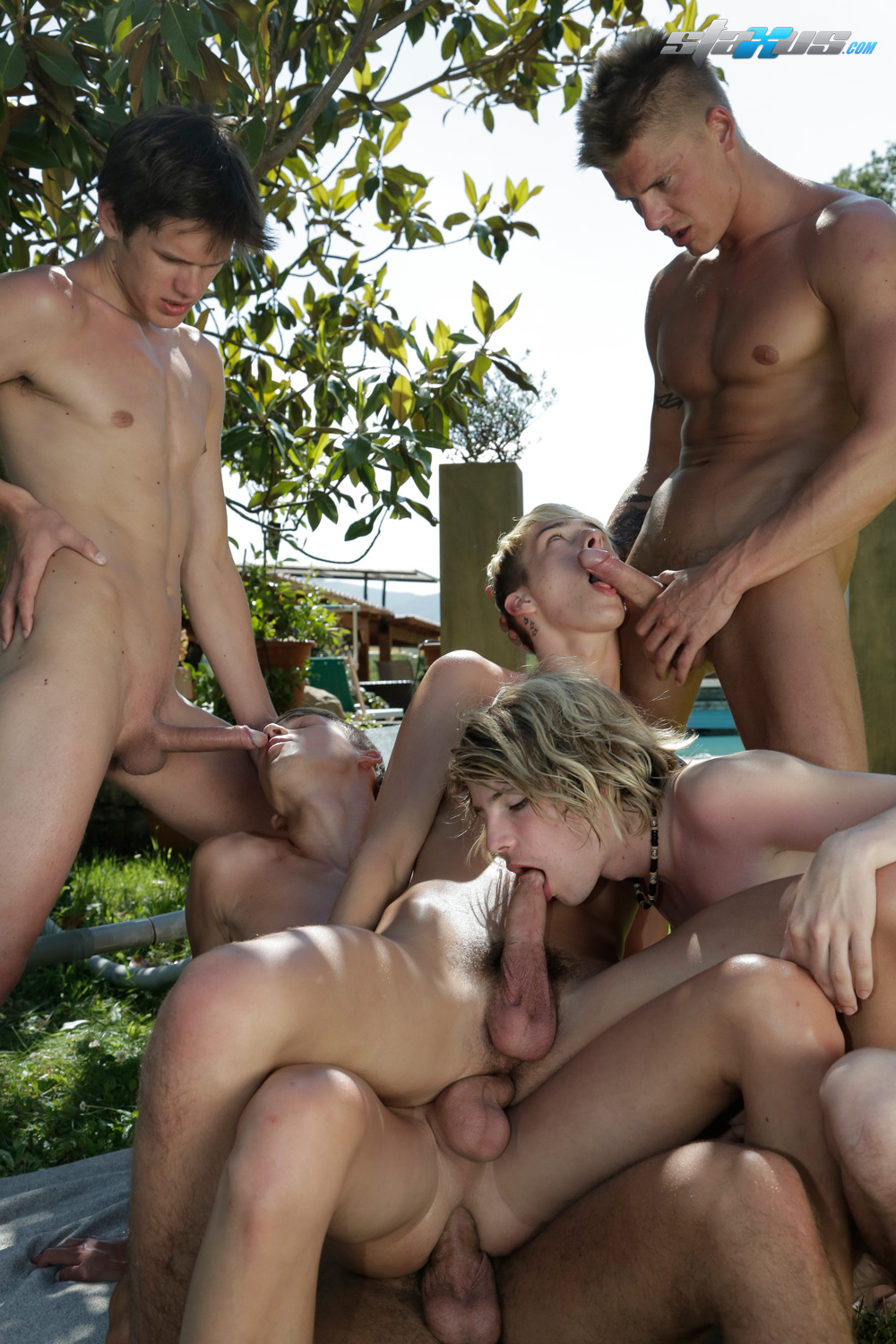 Horny Twink Orgy Gays