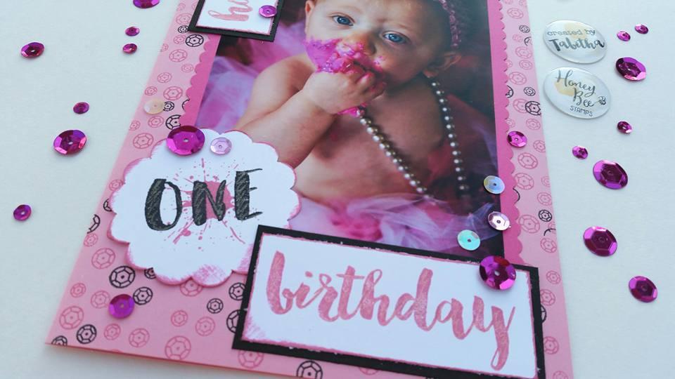 Confetti Fun First Birthday Card