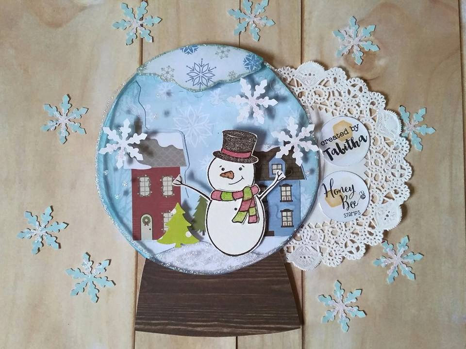 Flakey Friends Snow Globe Card