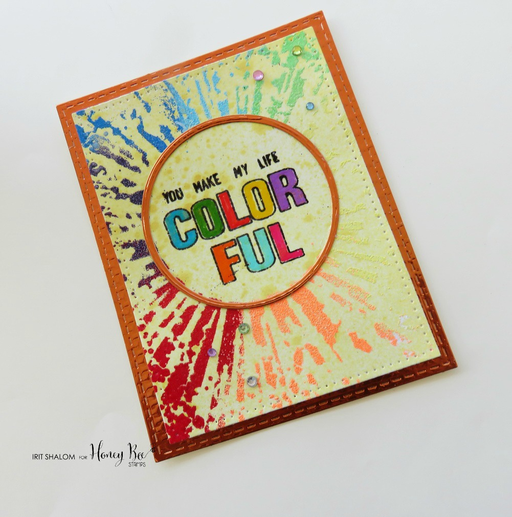 You make my life colorful Mixed Media card with Irit