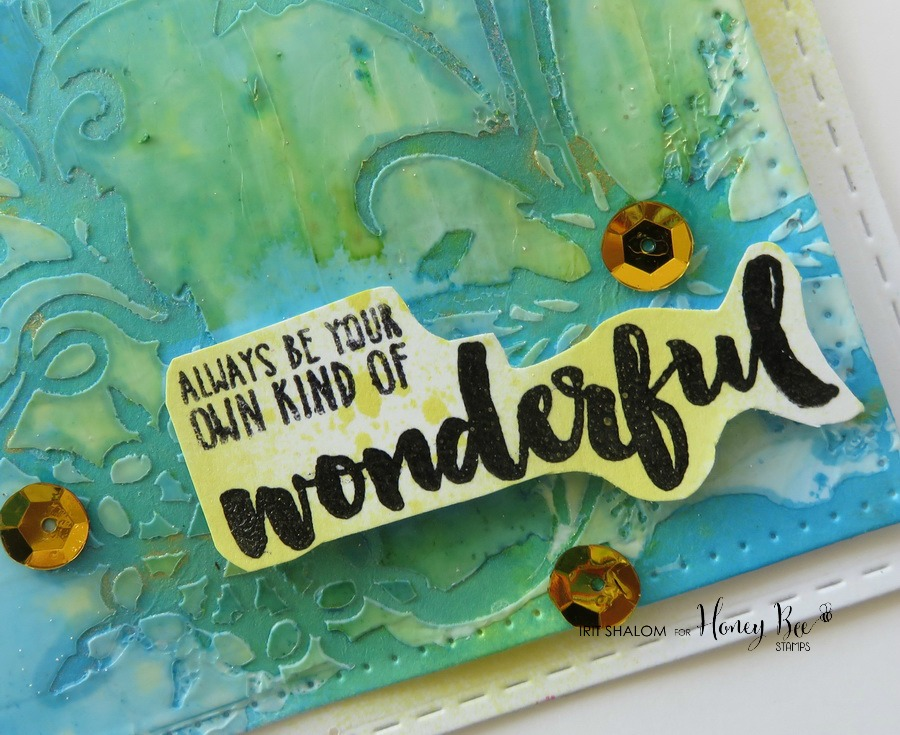 Your own kind of Wonderful card with Irit
