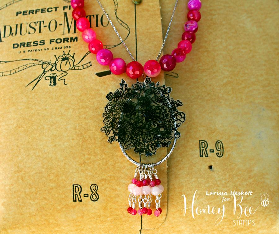 Shrink Plasic Zen Bouquet Necklace!!