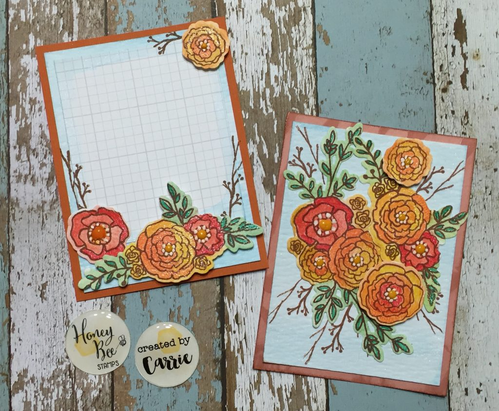 Country Blooms Watercolor layout