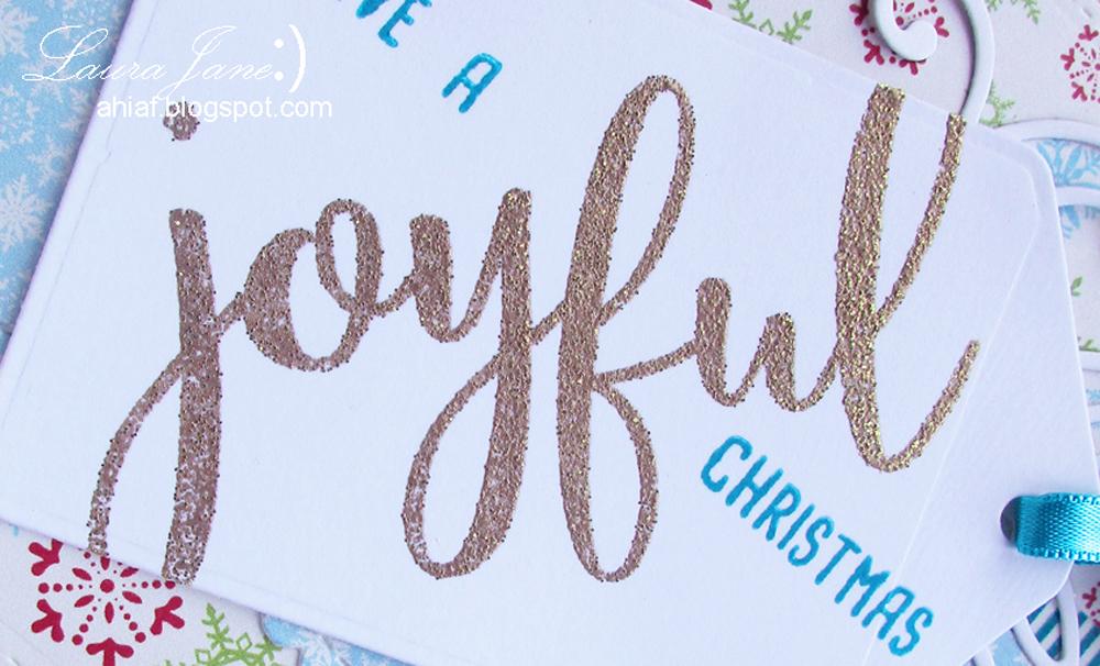 JOYFUL Christmas tag