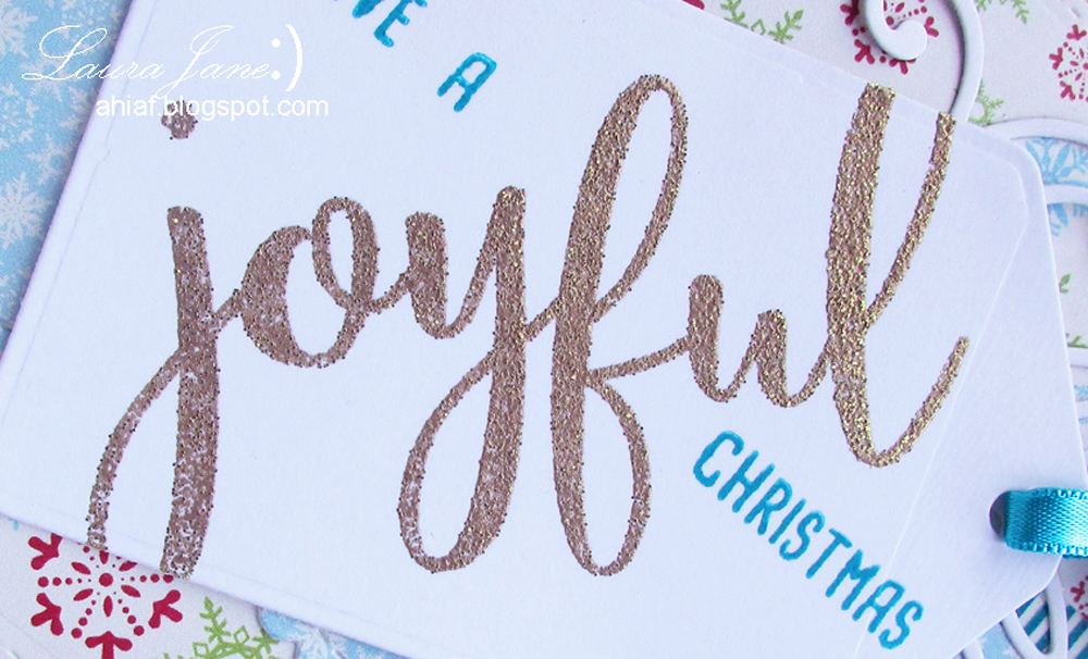 JOYFUL Christmas tag