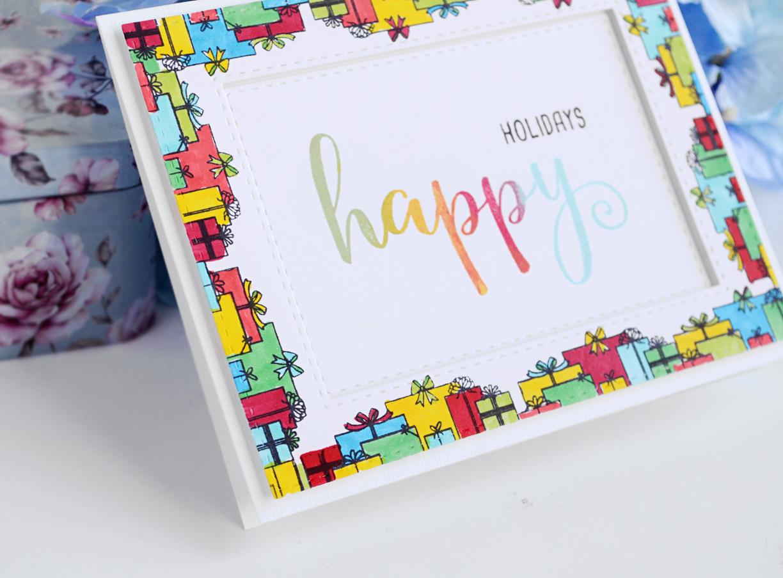 Rainbow holiday card