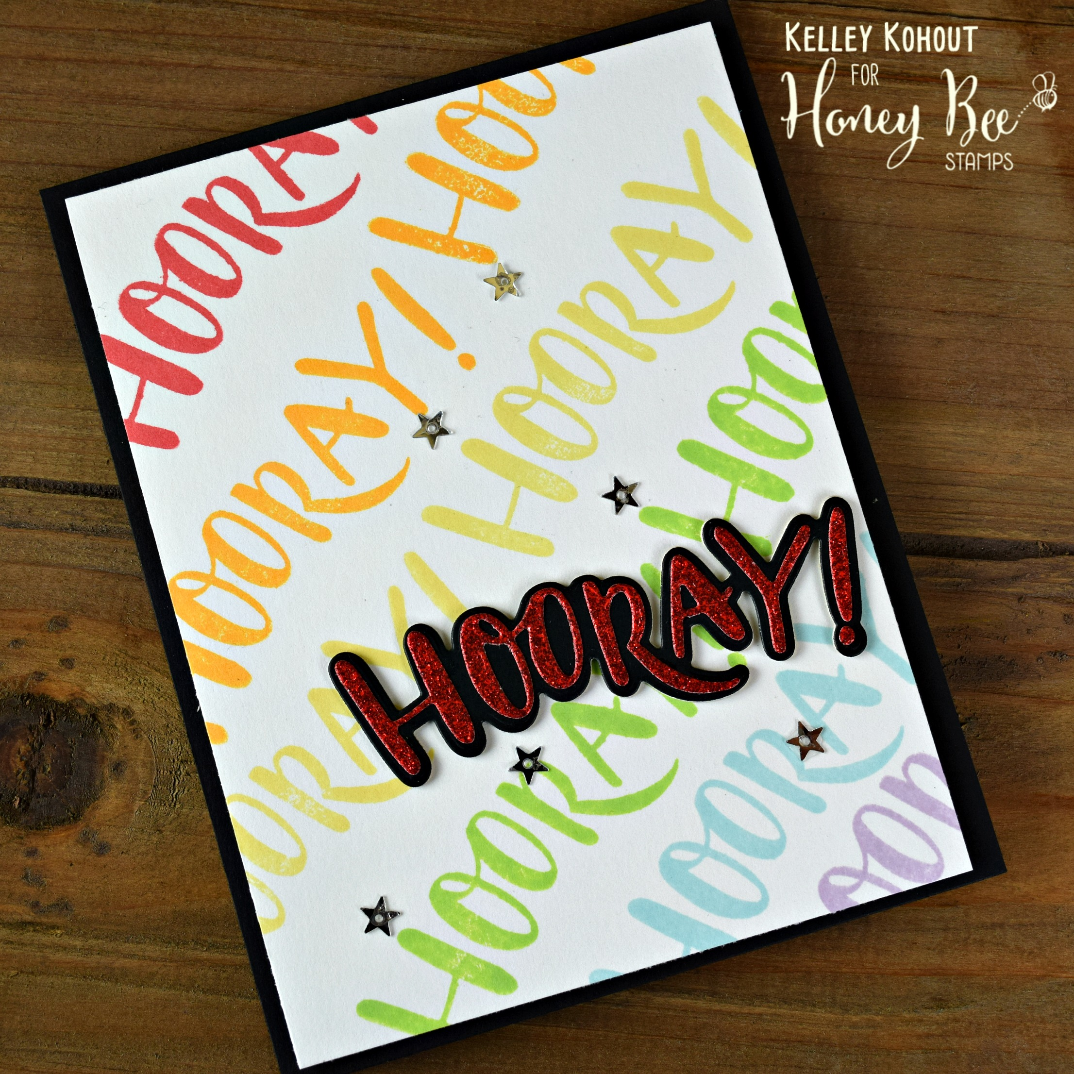 How To Make A Graduation Card! Featuring HOORAY! Stamps and Dies