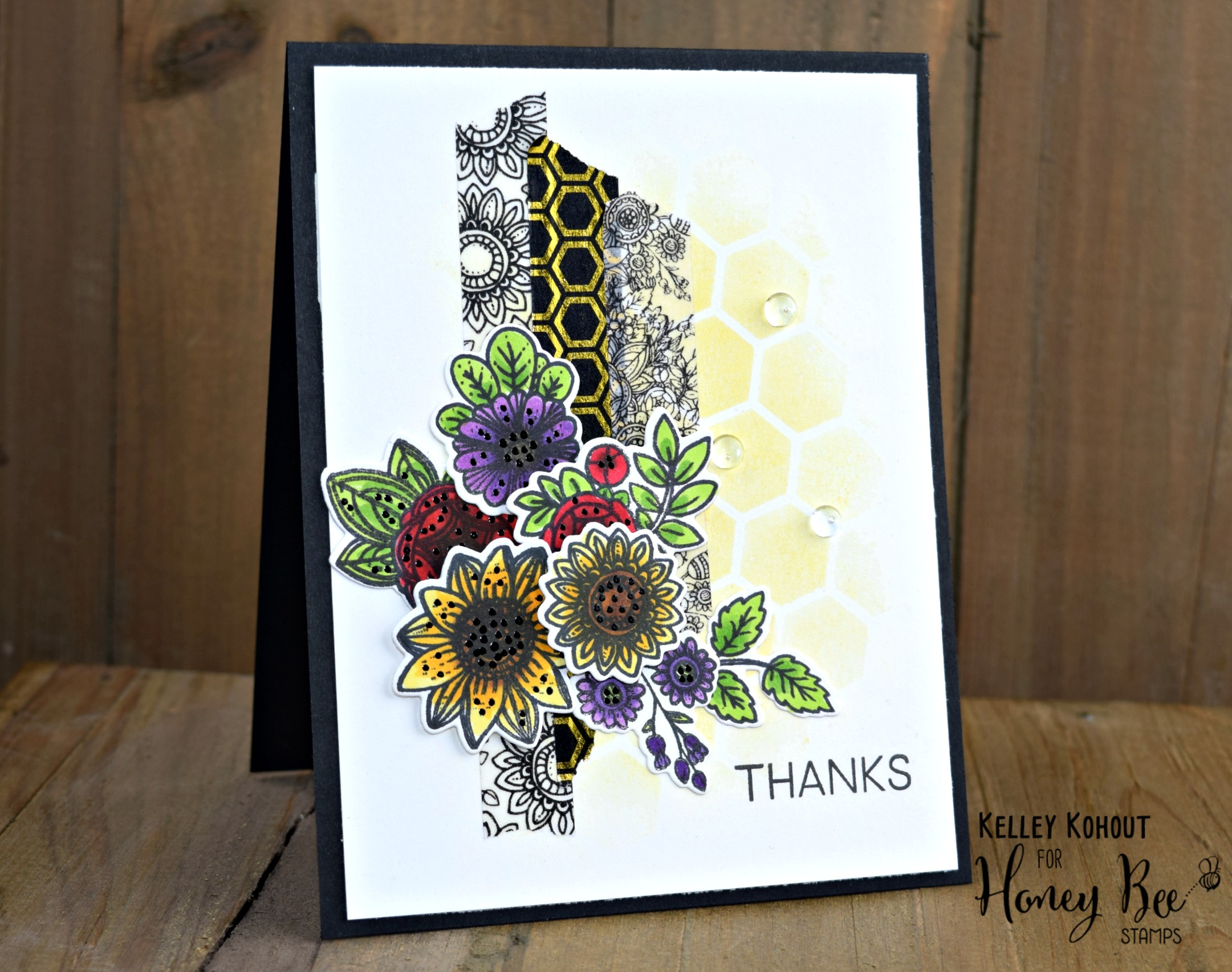 Introduction to Honey Bee Stamps Exclusive Washi Tape & a Card!