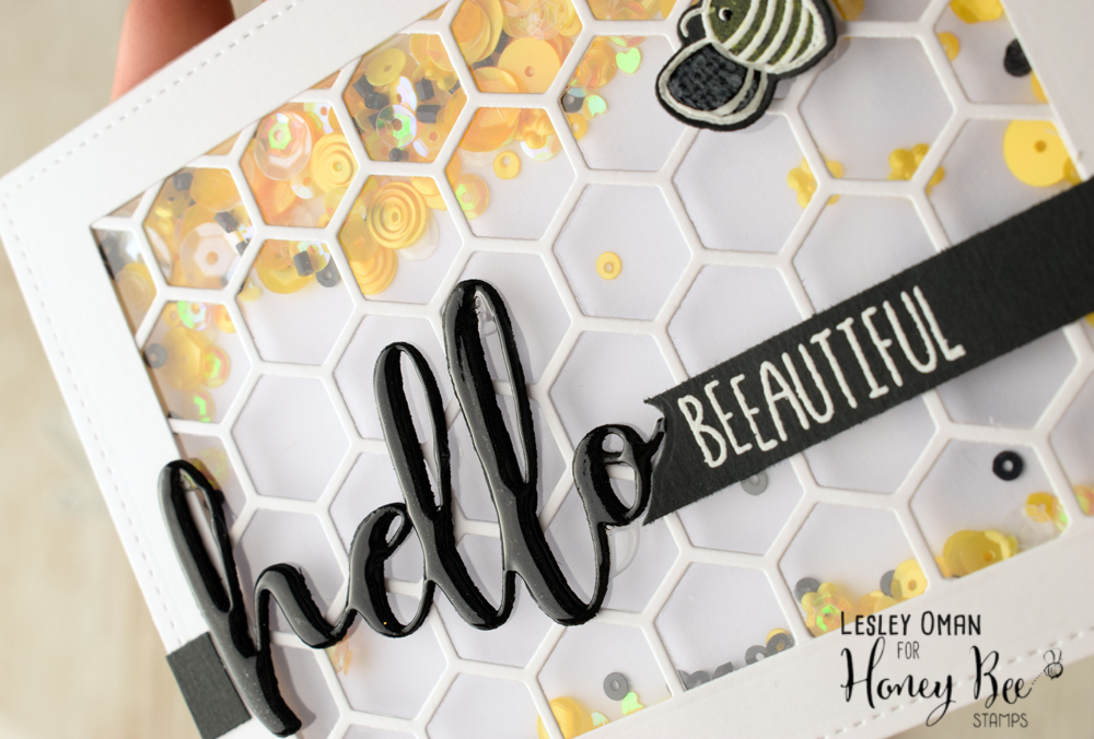 Hello BEEautiful – Sequin Shaker Card