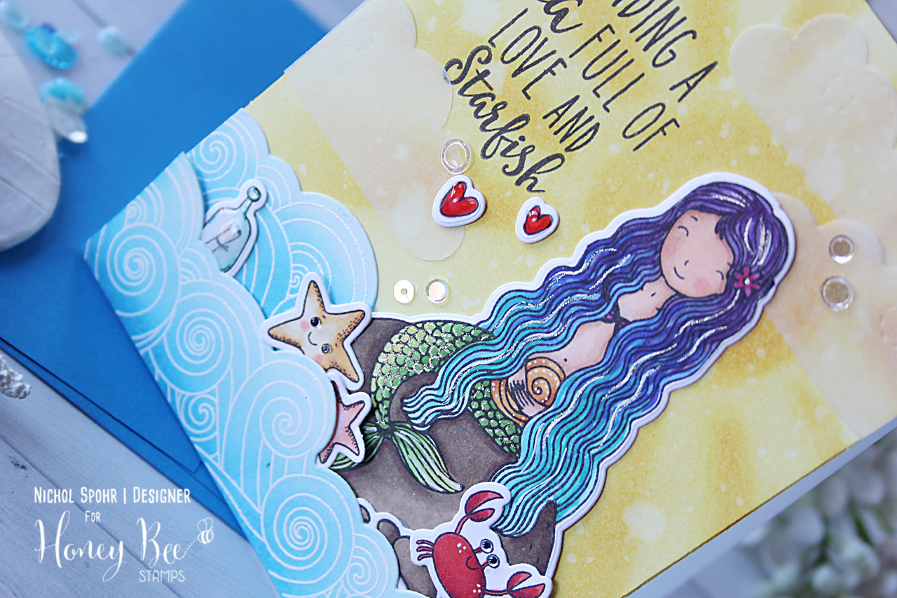 Create A Mermaid Scene with Stencils, Stamps, and Dies