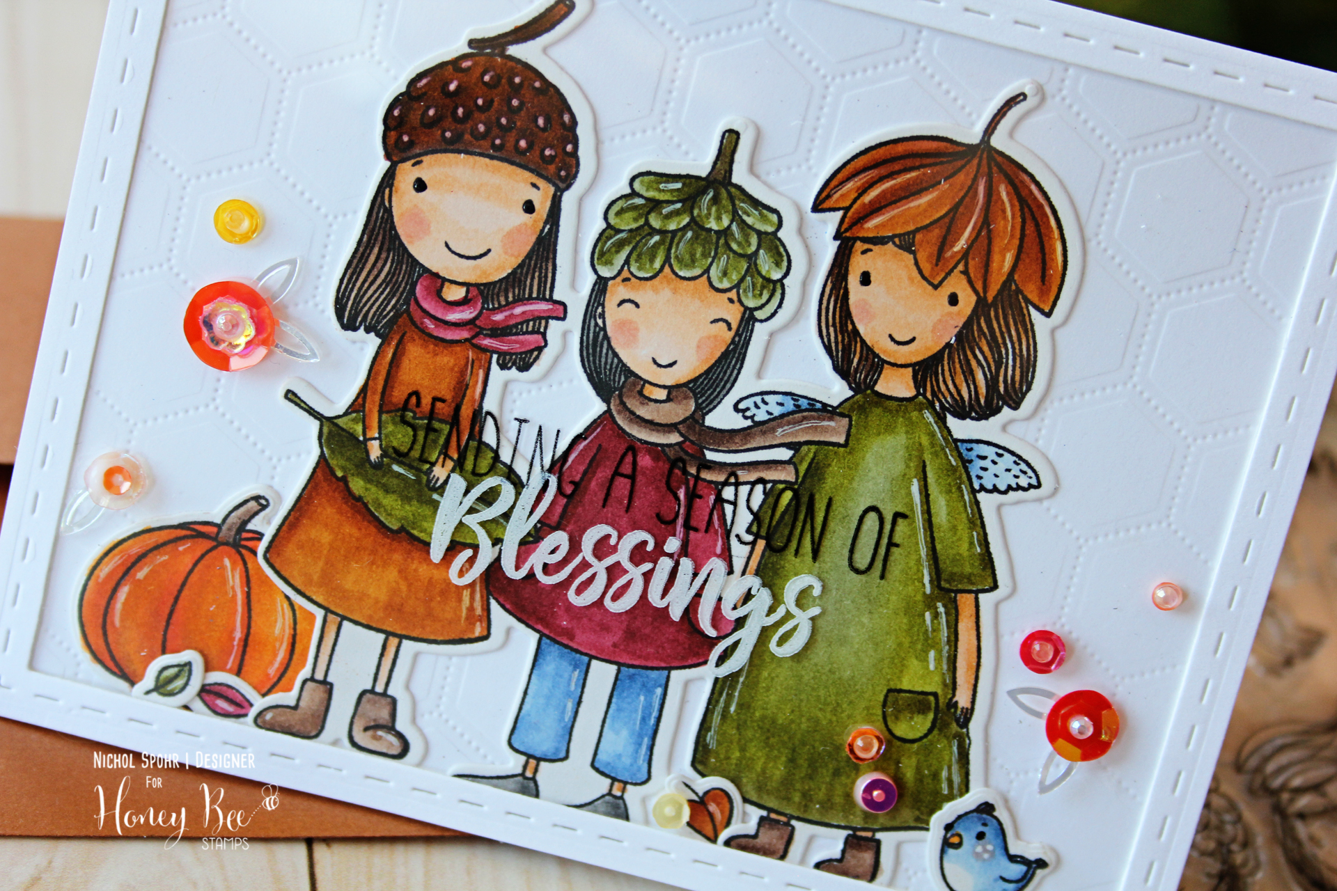 Acorn Sisters with Clear Plastic Window with Stamped Greeting