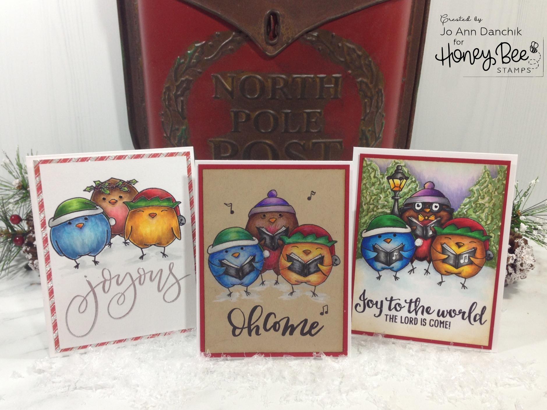Creative Sundays with Jo Ann: Season's Tweetings – Three Cards…Three Mediums