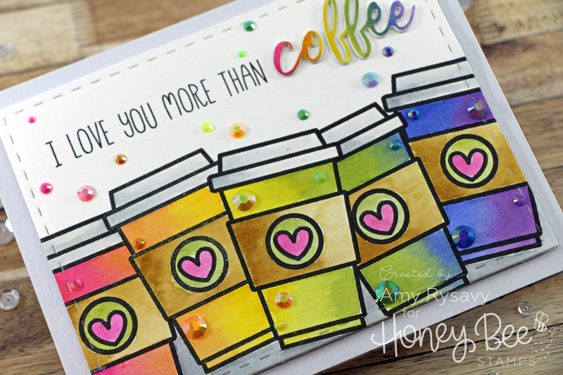Rainbow To-Go Cups Valentine Card with Amy Rysavy