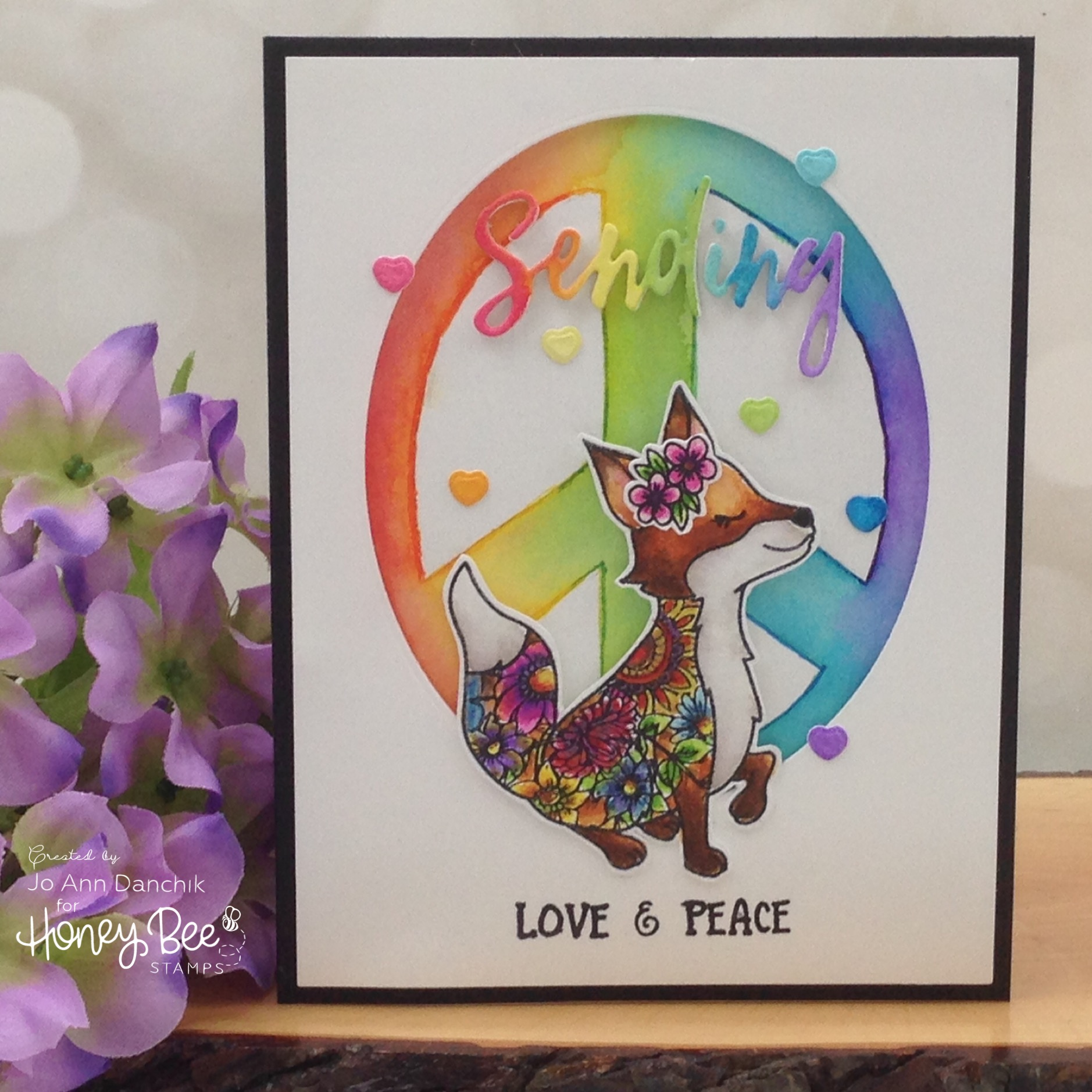 Creative Sundays With Jo Ann: Flower Power Fox