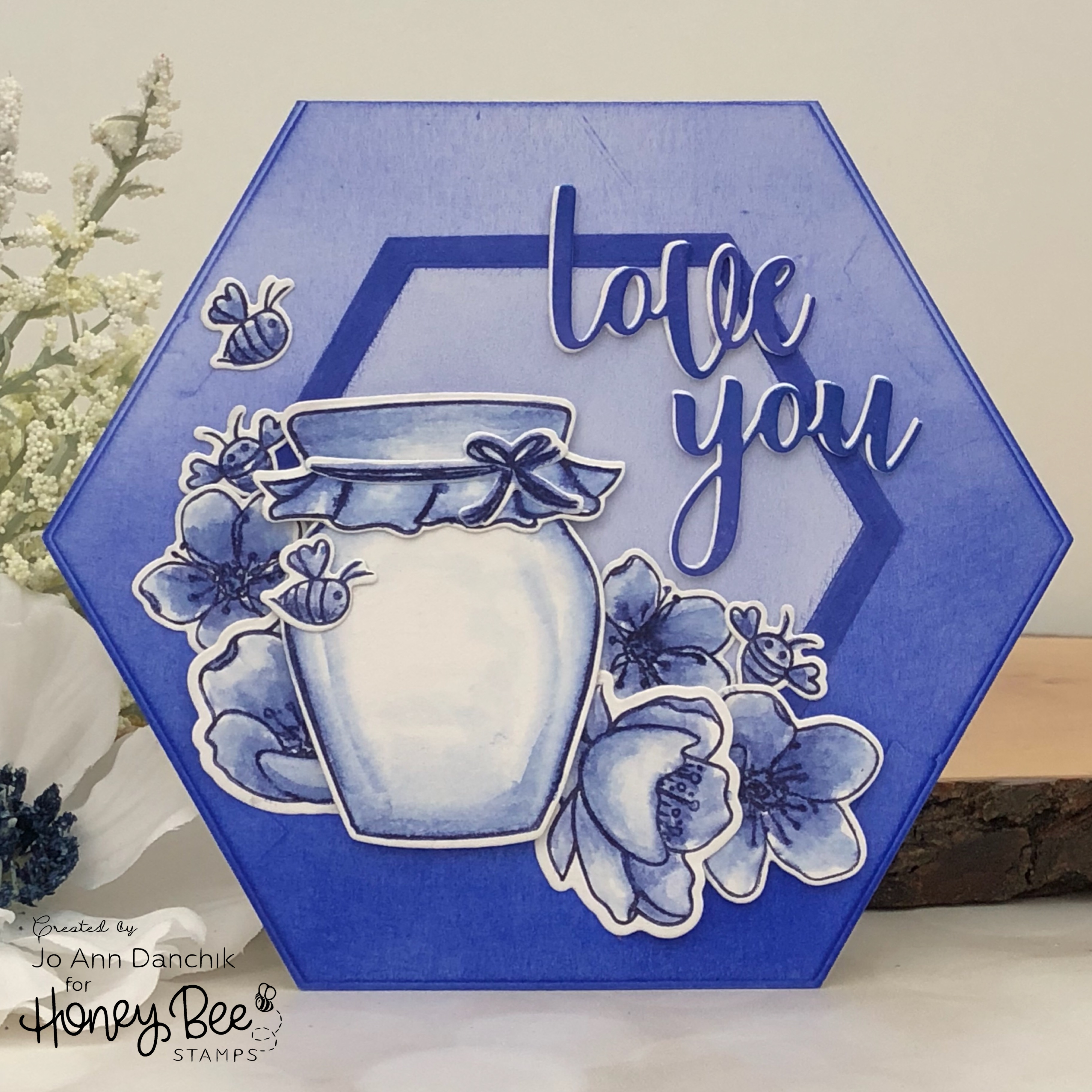 Creative Sundays With Jo Ann: Love You-Hexagon Shaped Card