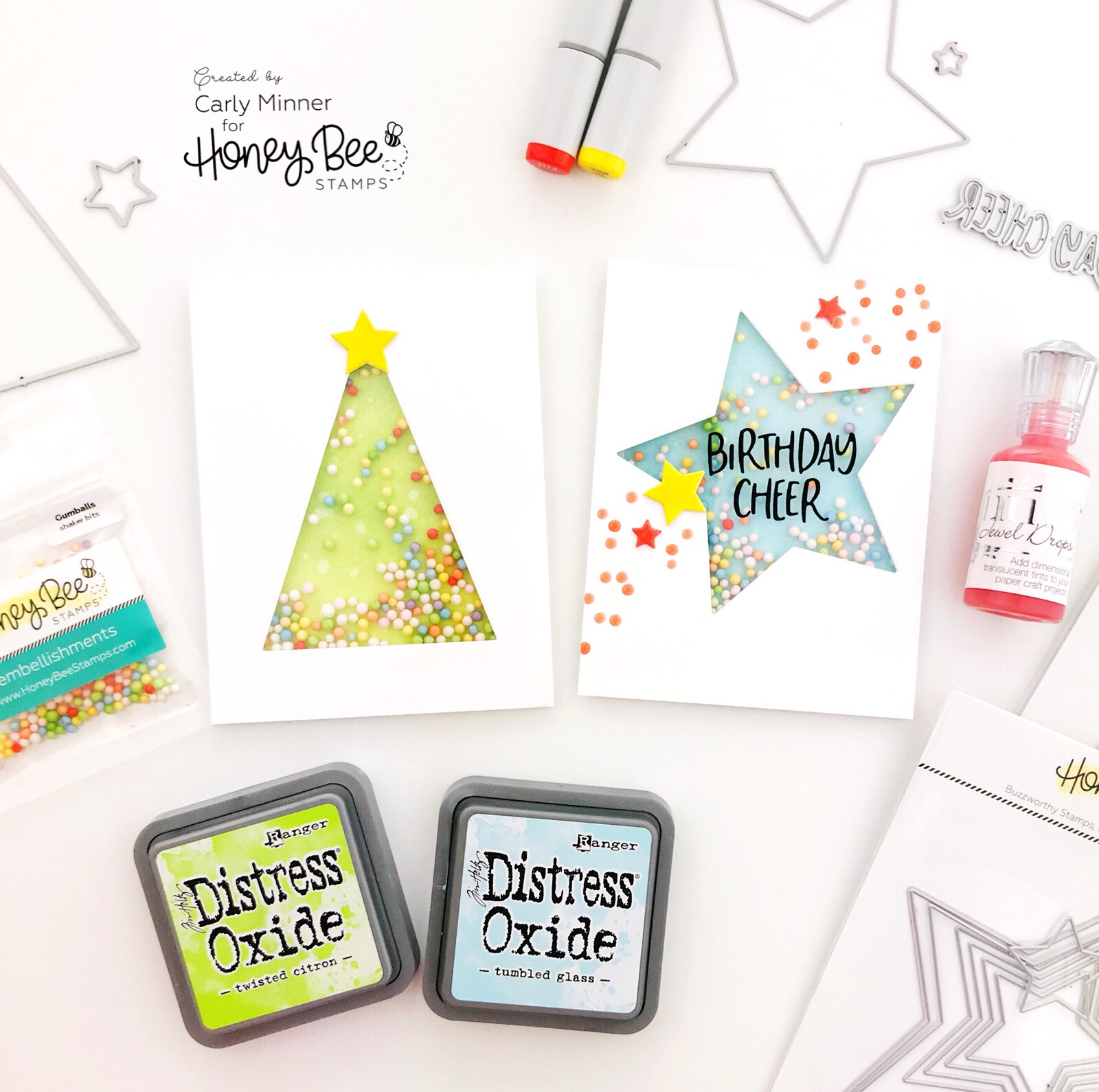 Christmas Tree Shaker Card