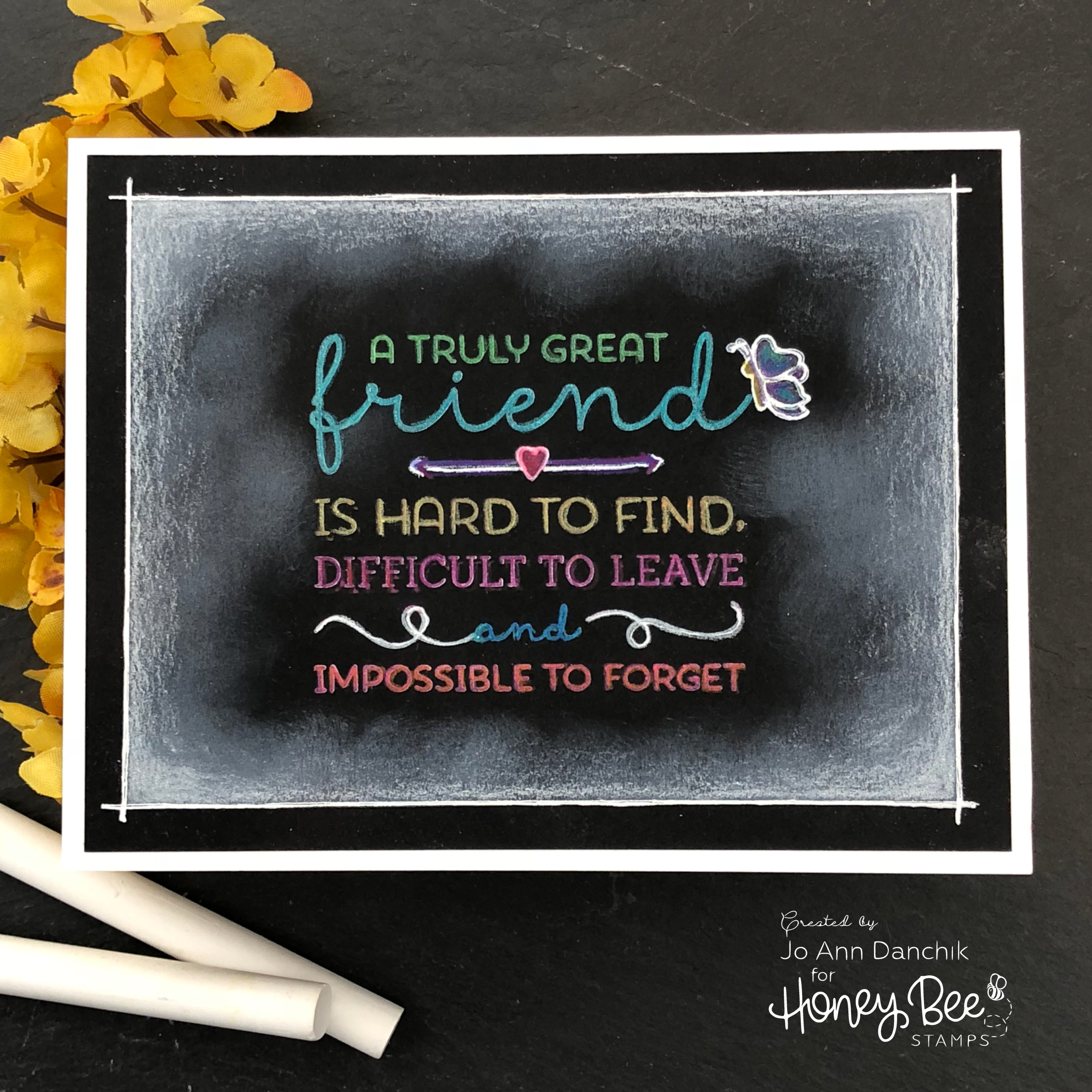 Creative Sundays With Jo Ann: Faux Chalkboard-Truly Great Friends