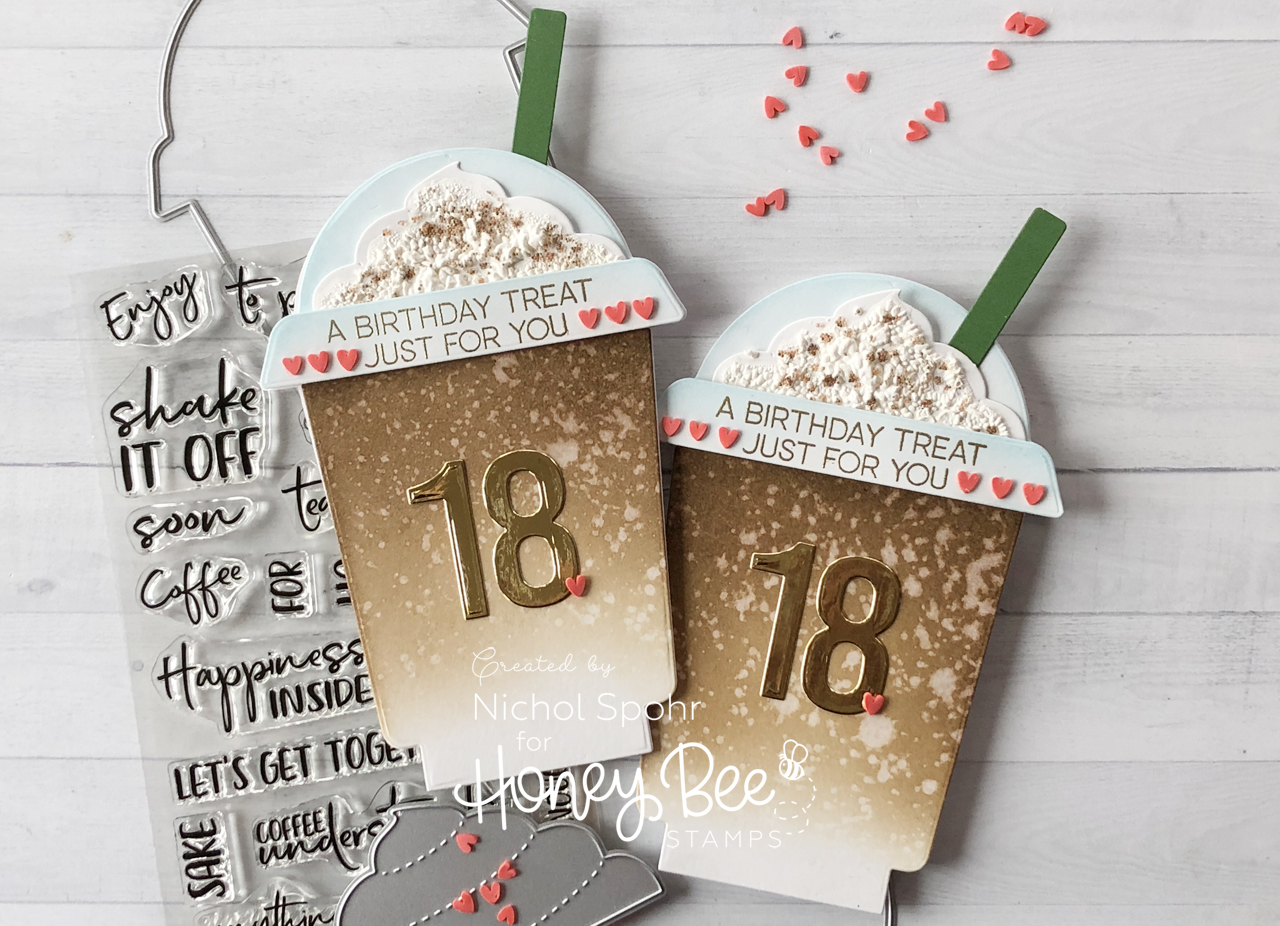 Frappe Shaped Birthday Gift Card Holder Cards