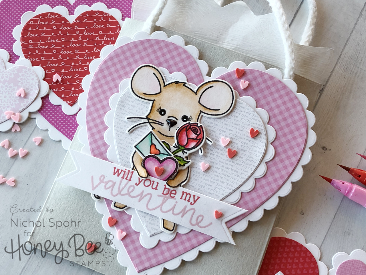 Mae the Mouse Valentine Gift Bag