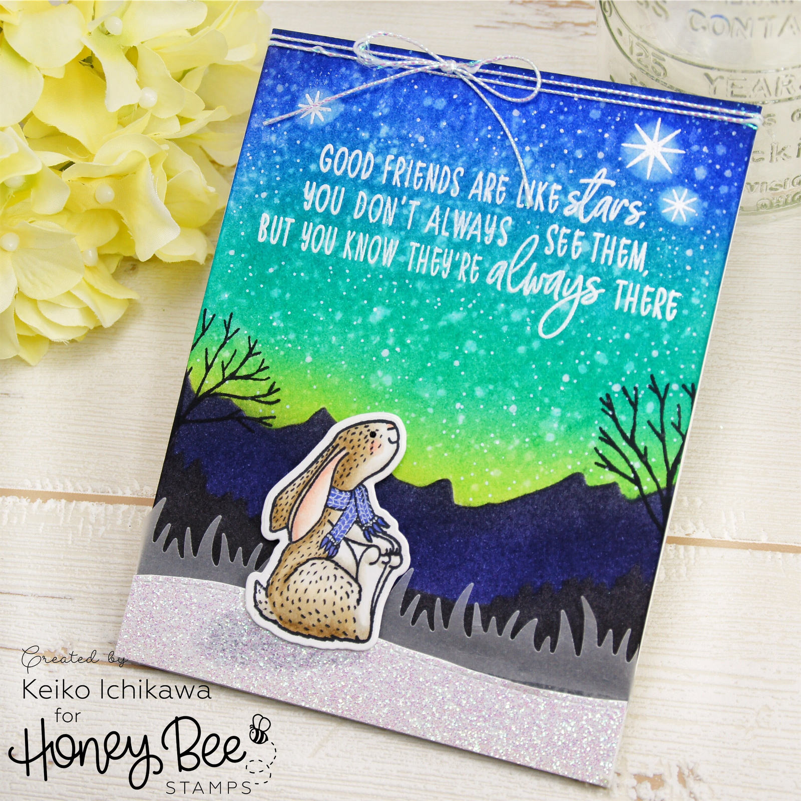 Starry night friendship card