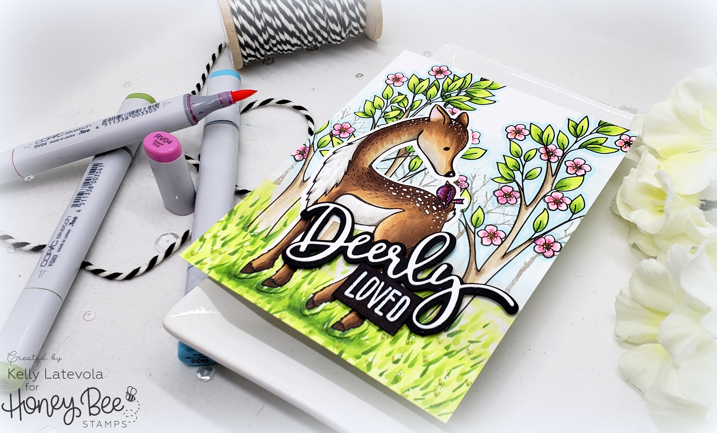Spring Time Scene: Stretching Your Stamps with Kelly Latevola