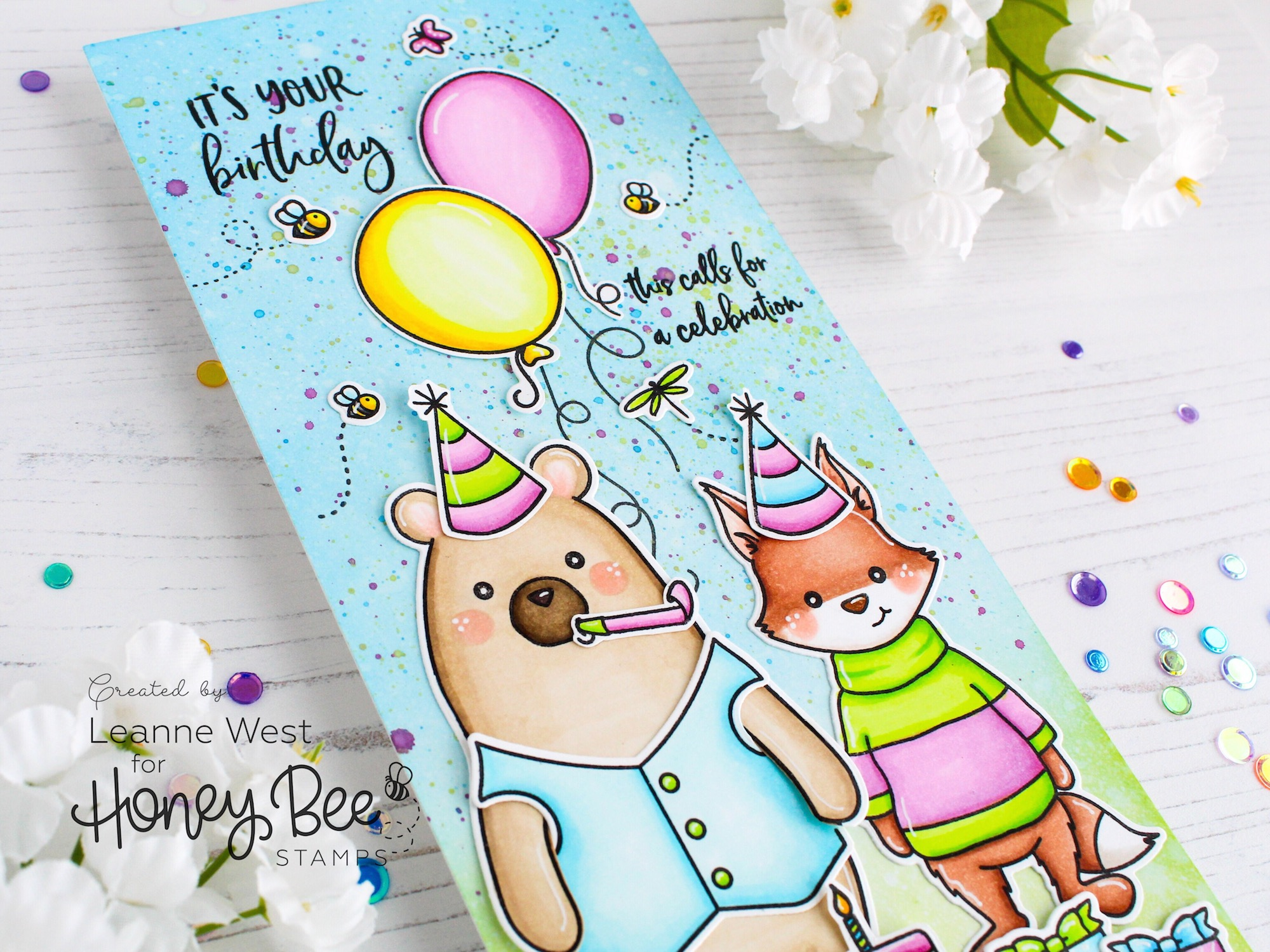 Bear & Fox Birthday Celebration Card