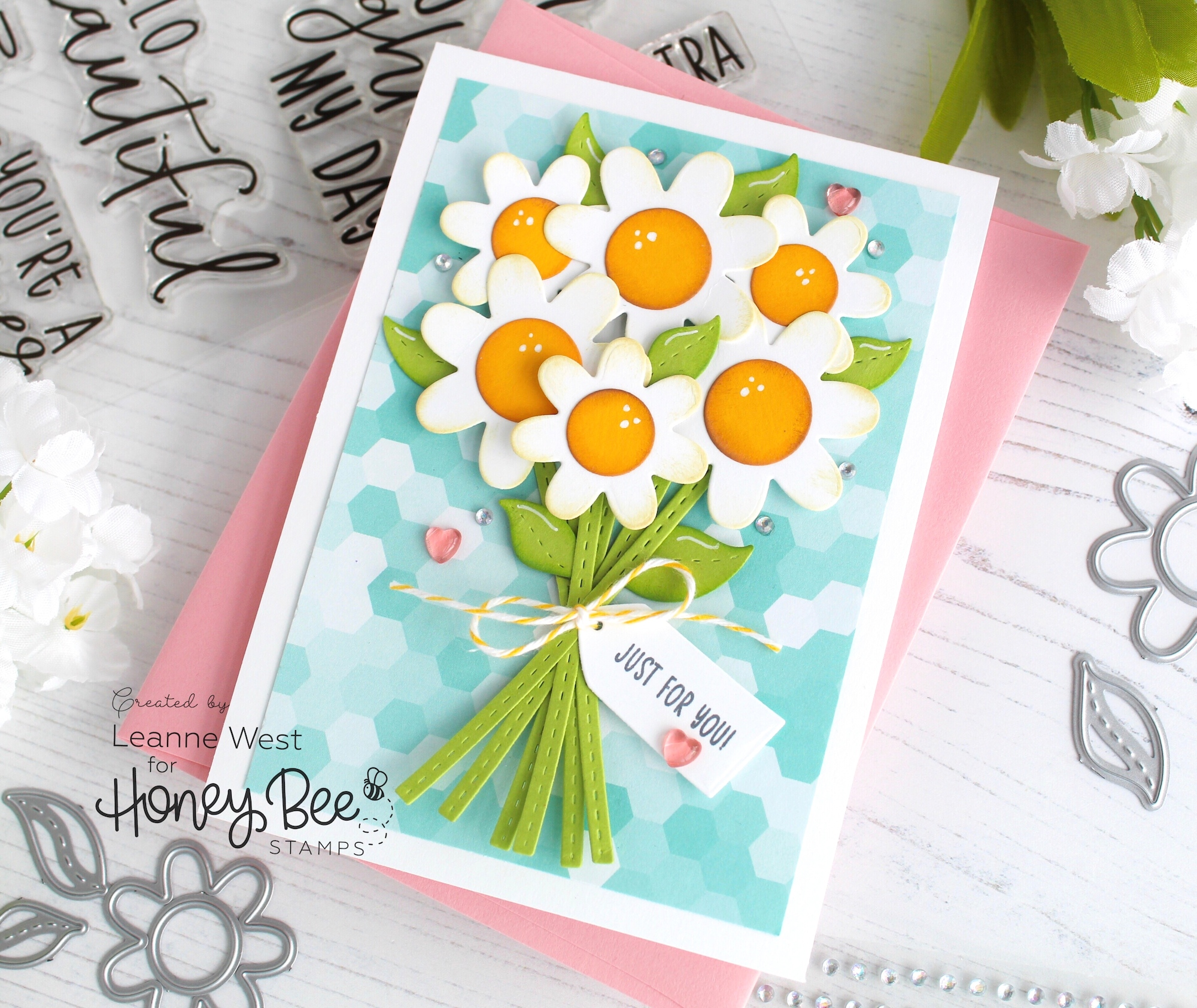 Honey Cuts Bouquet Thank You Card