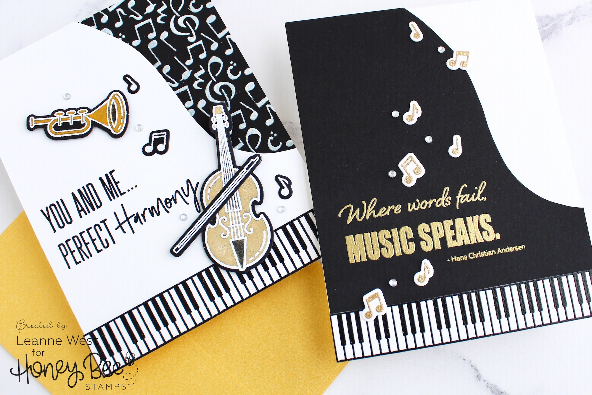 Music Speaks Grand Piano Card 2 Ways