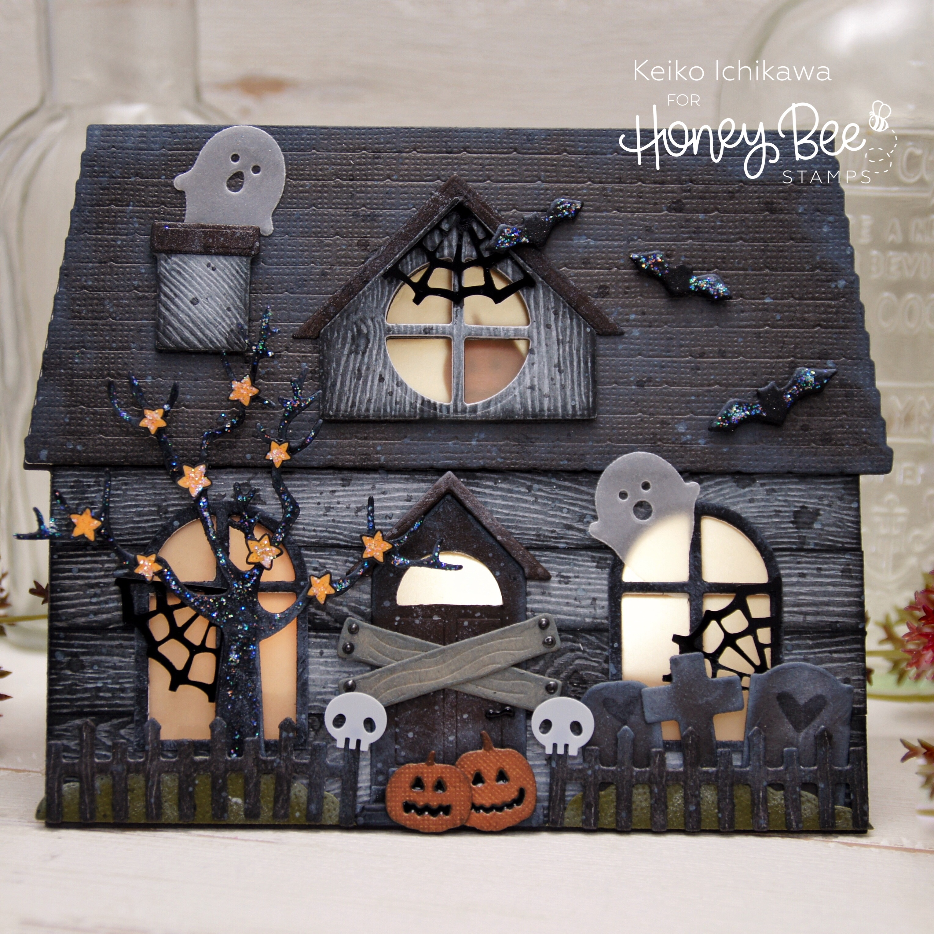 Haunted House Shaped Card