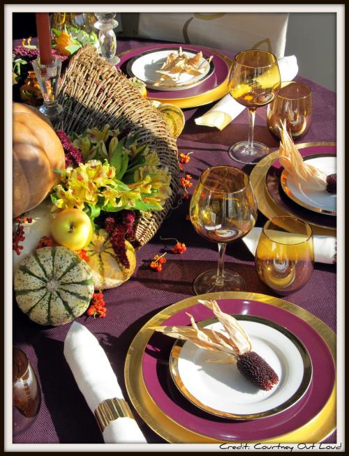 Thanksgiving tablescapes beyond orange  brown  Hooker