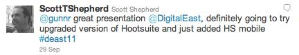 Greg Gunn Digital East Twitter HootSuite