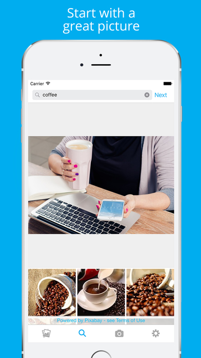 Change the size of your images on each social network with Enhance the design tool