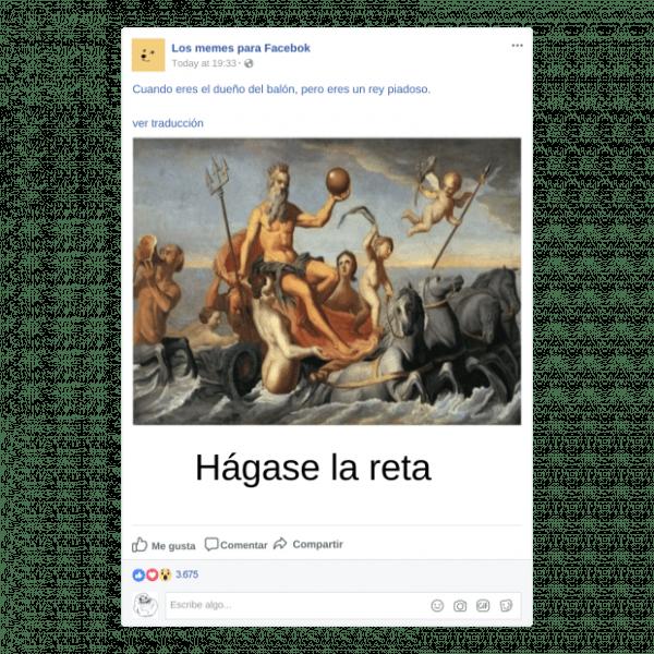 Crea memes para Facebook - Arte Clásico