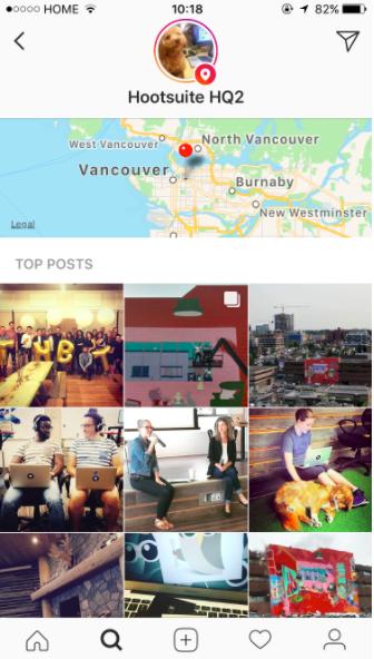 Instagram Explore tab