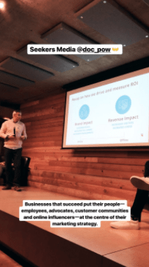 Instagram Story of a live event at Hootsuite   Hootsuite Blog