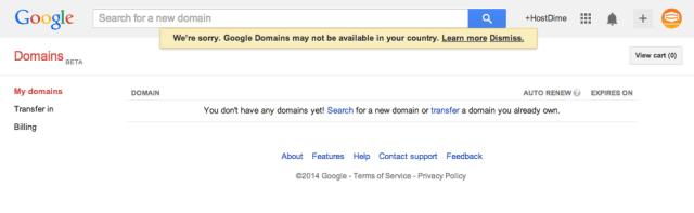 administracion dominio google