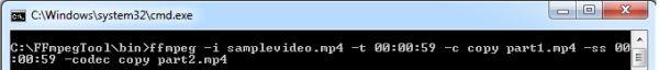 dividir archivo de video desde la consola