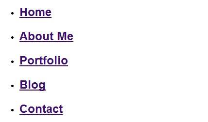 menu html