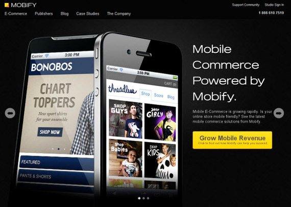 mobify sitio web para aplicacion