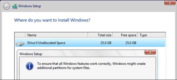 particion reservada para el sistema adicional windows