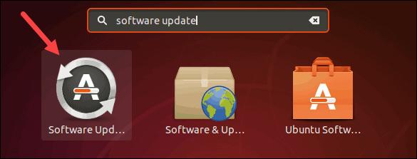 Find software updater on Ubuntu, using GUI.